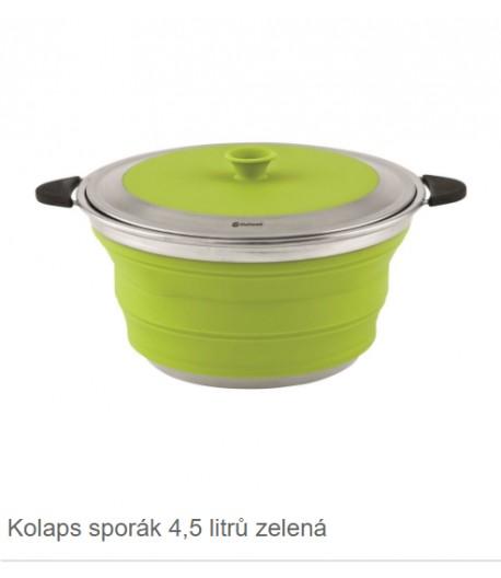 Skládací nádobí s víkem - zelená -4,5l