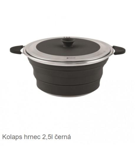 Skládací nádobí s víkem - černá -2,5l