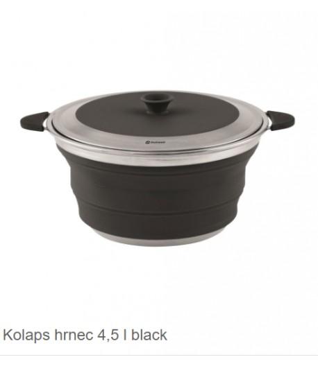Skládací nádobí s víkem - černá -4,5l