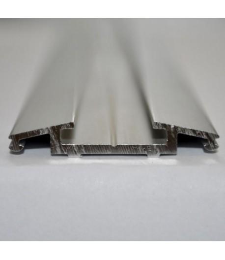 Krycí lišta široká stříbrná eloxovaná