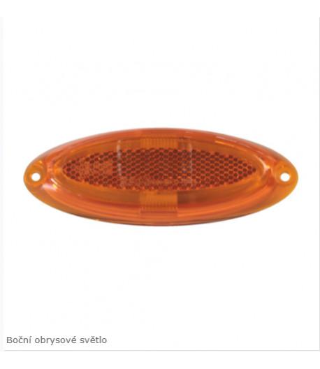 LED obrysové světelo oválné oranžové