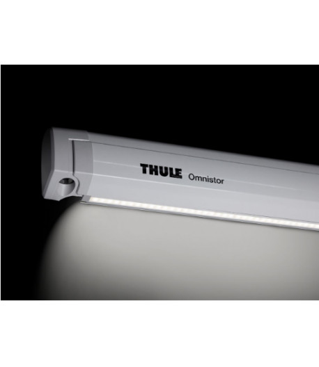 Lišta na stan a LED pásku pro Thule Omnistor 5200 - 4,5m bílá