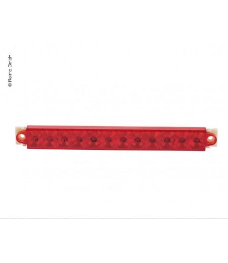 LED brzdové světlo červená / chrom, 9-32V, 2,2 W IP67, 500 mm kabel