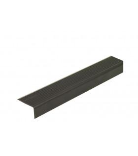 Hliníkový prah dveří 25x15mm, 3m černý