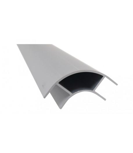 Hliníkový rohový profil nábytku 2,2 m, otevřený z obou stran