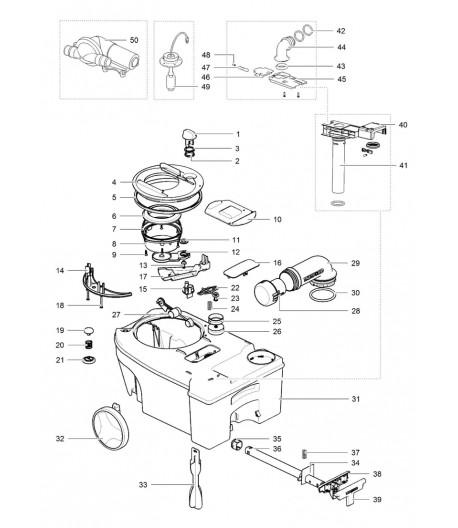 Náhradní díly pro sběrné nádrže Cassette C2 | C3 | C4