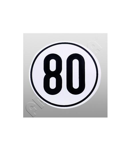 Nálepka rychlostní limit 80