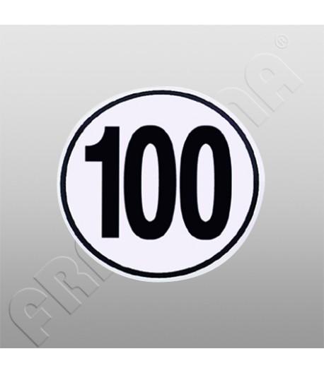 Nálepka rychlostní limit 100